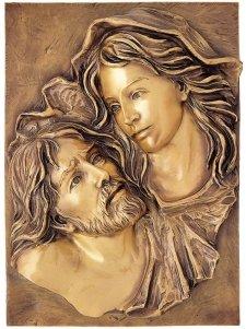 Jesus Plaque Wall Bronze Statues