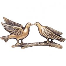 Loving Doves Wall Bronze Statues