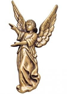 Offering Angel Wall Bronze Statues