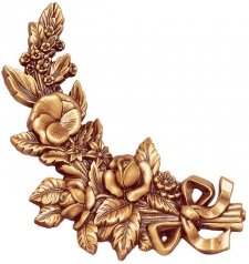 Flowers Wall Bronze Statues III