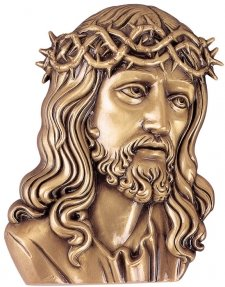 Jesus our Savior Wall Bronze Statues