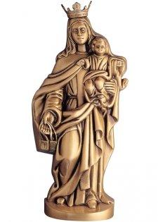 Virgen Del Carmen Wall Bronze Statues