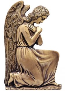 Kneeing Angel in Prayer Wall Bronze Statues II
