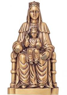 Virgen De Montserrat Wall Bronze Statues