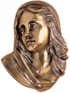 Maria in Prayer Wall Bronze Statues