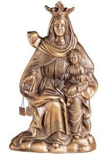 Virgen Carmen Wall Bronze Statues