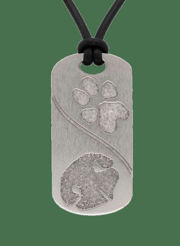 Bronze Double Petprints Pendant