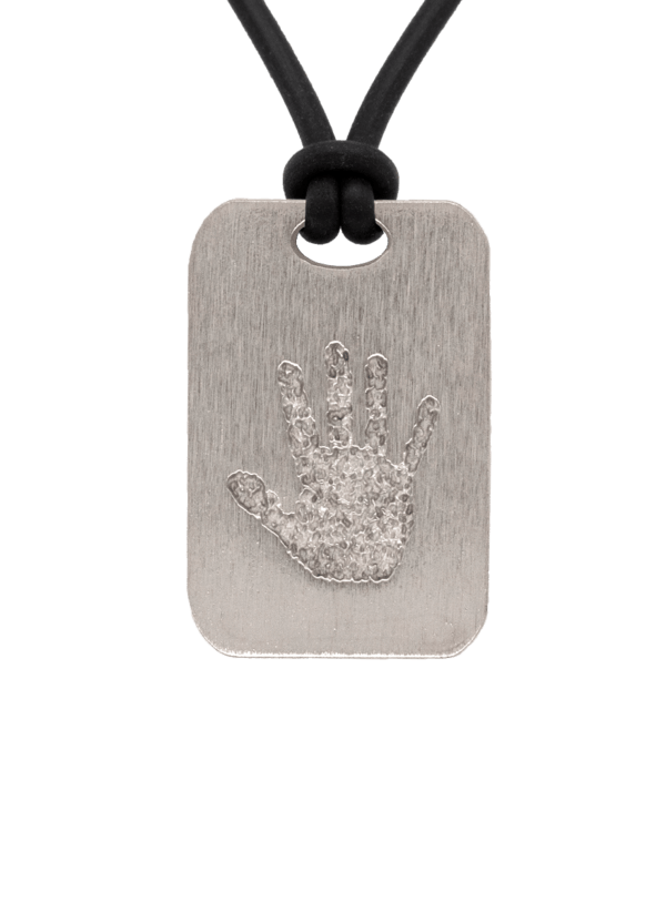 Bronze Handprint Keepsake Pendant