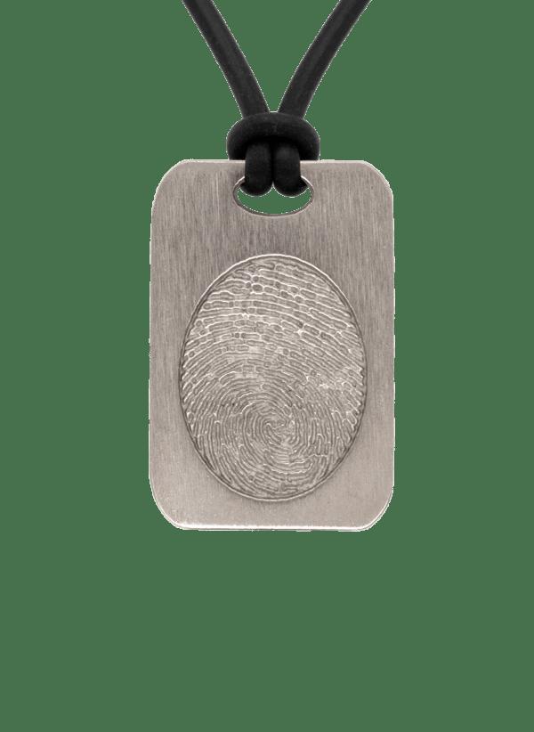 Bronze Fingerprint Keepsake Pendant