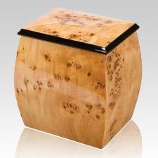Burlwood Chest Wood Cremation Urn