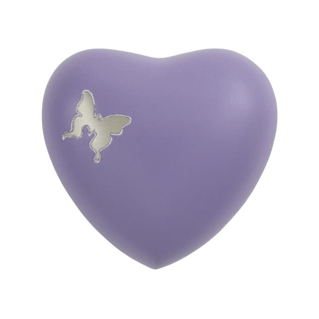 Butterfly Flutter Heart Keepsake Urn