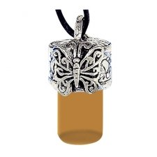 Butterfly Brown Urn Necklace