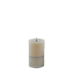 Chrome Band Small Candle Urn