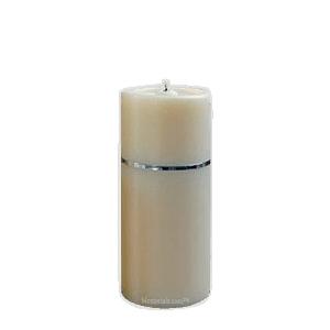 Chrome Band Medium Candle Urn