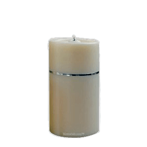 Chrome Band Candle Cremation Urn