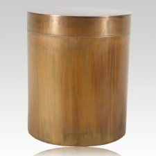 Round We Go Copper Cremation Urn