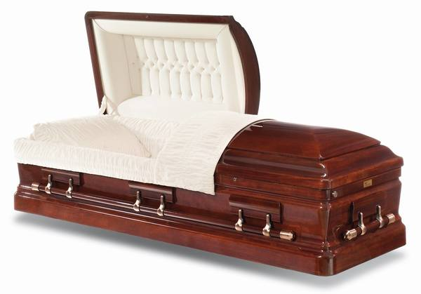 Capital Mahogany Wood Casket