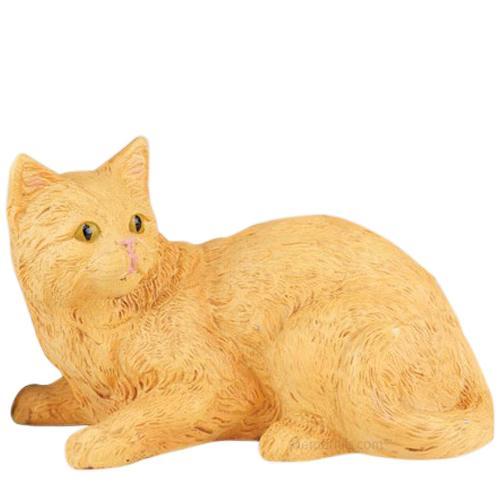 Orange Kitty Cremation Urn