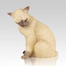 Siamese Kitty Cat Cremation Urn
