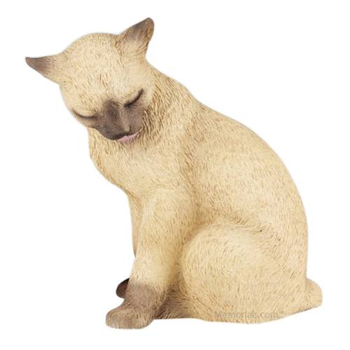 Siamese Kitty Cat Cremation Urn