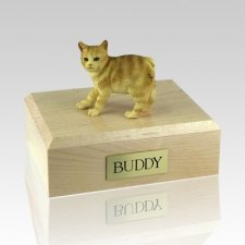 Manx Red Taby Cat Cremation Urns
