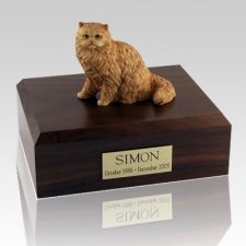 Persian Orange Cat Cremation Urns