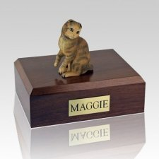 Scottish Fold Brown Tabby Cat Cremation Urns