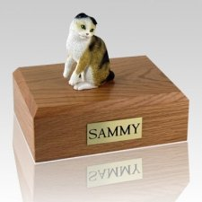 Scottish Fold Tort Cat Cremation Urns