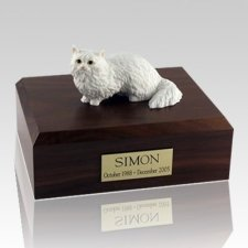 Angora White Cat Cremation Urns