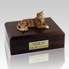 Tabby Orange Cat Cremation Urns