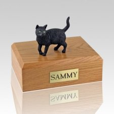 Black Standing Cat Cremation Urns