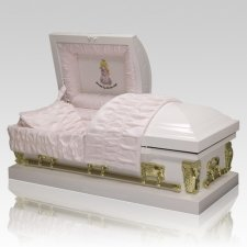Precious Moments Caucasian Girl Casket - Medium