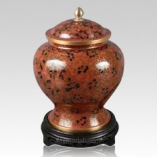 Empress Red Medium Cloisonne Urn