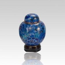 Blue Copper Keepsake Cremation Urn