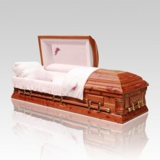 Light Cedar Wood Casket