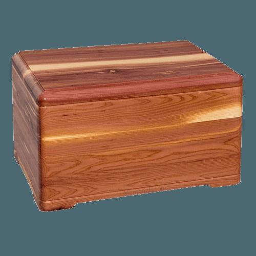 Elegant Cedar Cremation Urn