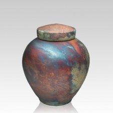 InterRoll Raku Small Cremation Urn