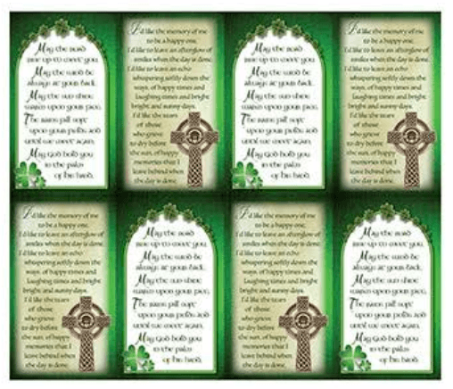 Celtic Blessing Prayer Cards
