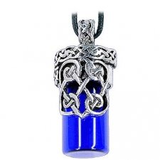 Celtic Blue Cremation Necklace Urn