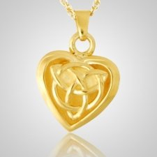 Celtic Heart Keepsake Pendant II