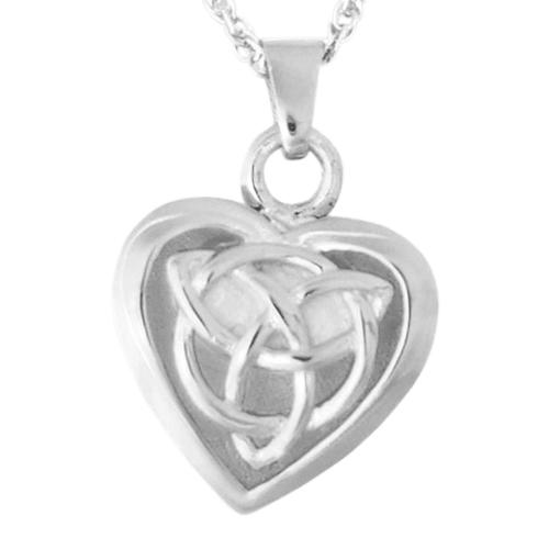 Celtic Heart Keepsake Pendant