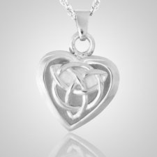 Celtic Heart Keepsake Pendant III