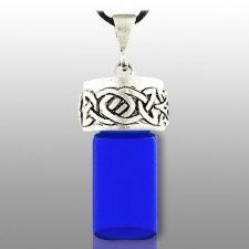 Celtic Blue Pet Cremation Necklace