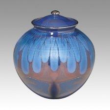 Blue Corona Pet Urn