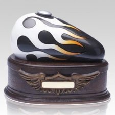 Black Motorcycle Cremation Urns