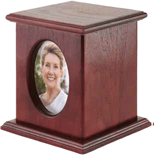 Cherry Picture Portrait Cremation Urn