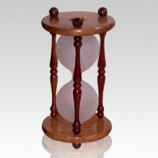 Hourglass Pillar Cherry Keepsake Urn