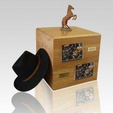 Chesnut Rearing Full Size Horse Urns