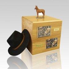 Chesnut Standing Full Size Horse Urns