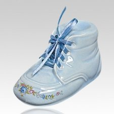 Blue Baby Bootie Infant Cremation Urn
